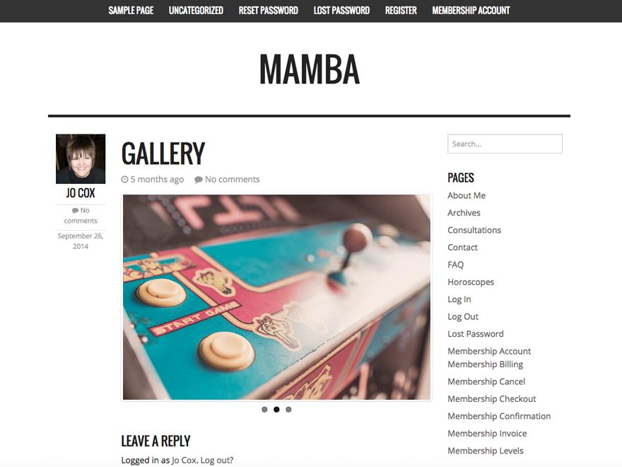 Mamba theme